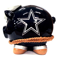 Forever Collectibles Large Thematic Piggy Bank - Dallas Cowboys