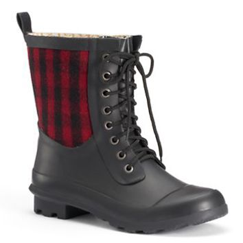 Chooka Cara Plaid Women's Waterproof Rain Boots
