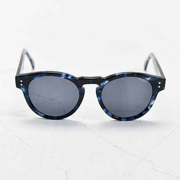 KOMONO CRAFTED Clement Blue Tortoise Round Sunglasses- Navy One