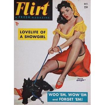 Flirt Magazine Cover poster Metal Sign Wall Art 8in x 12in