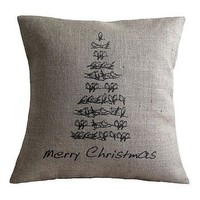 Vintage Style Christmas Tree Cushion