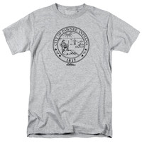 PARKS & REC/PAWNEE SEAL - S/S ADULT 18/1 - HEATHER -
