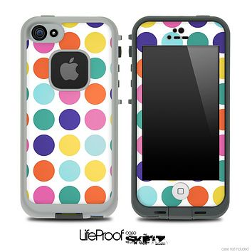 Polka V4 Fun Color Pattern Skin for the iPhone 5 or 4/4s LifeProof Case