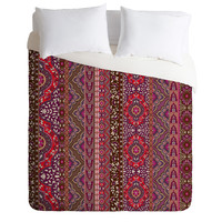 Aimee St Hill Farah Stripe Red Duvet Cover