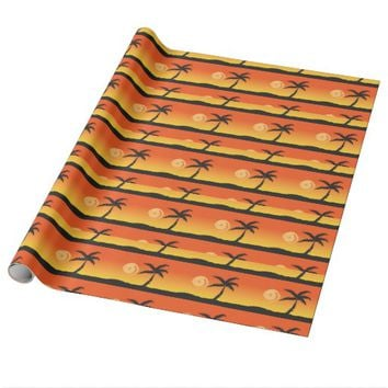 Island Sunset Wrapping Paper