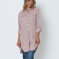 Kate's Shirt-Dress - Blush