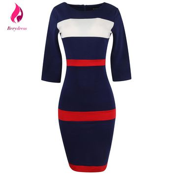 Elegant Black Work Office Bandage Dresses Women Pencil Robe De Soiree with Sleeves Modest Plus Size XXXL Red Summer Dress