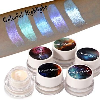 New 5 Color Festival Makeup Body Glitter Tattoo Multifunctional Shimmer Powder High light Eyeshadow Face Highlighter Contouring