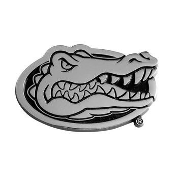 Florida Gators NCAA Chrome Car Emblem (2.3in x 3.7in)