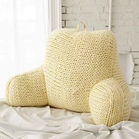 Plum & Bow Chunky Knit Boo Pillow