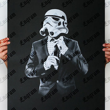 Storm Trooper Smart trooper -  Star Wars Art Screen printed poster ( Storm trooper poster, Star Wars poster )