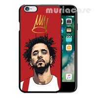 Hot J Cole Art Red Design For iPhone 6 6s 6+ 6s+ Hard Plastic TPU Cover Case