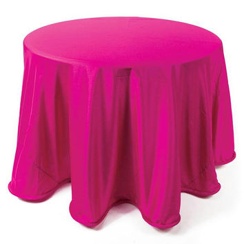 2 Fuschia Tablecloths - Round