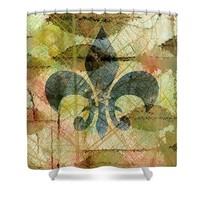 Fleur De Lys Nature Shower Curtain