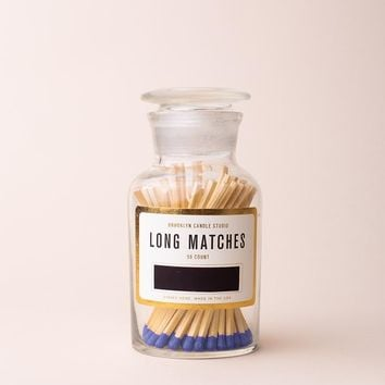 Apothecary Match Bottle - Cobalt