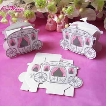 100pcs/lot Cinderella Carriage Pumpkin Coach Gift Box