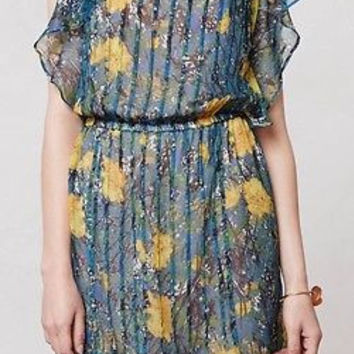 NWT $248 Anthropologie Pleated Daylily Dress - From Plenty by Tracy Reese-Sz L P