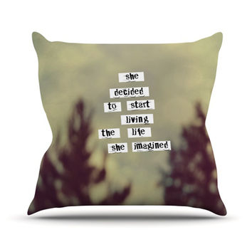 "Rachel Burbee ""Her Life"" Throw Pillow"