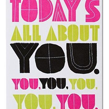 American Greetings Funny All About You Birthday Card - Happy birthday card - Free Shipping