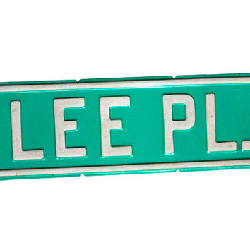 "Vintage Metal Street Sign ""Lee Pl"" Place 