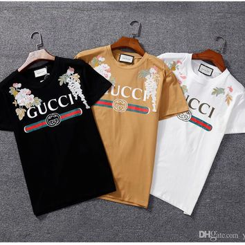 vetements Printing tiger High quality cotton T-shirts kanye west justin bieber pablo men and women Embroidered Flower t-shirt