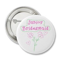 Pink Flowers Junior Bridesmaid from Zazzle.com