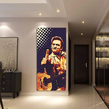 3 Pieces Home Decor For Living Room Johnny Cash Wall Art Picture Canvas