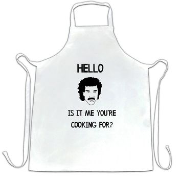 Hello Is It Me You're Cooking For Apron Lionel Richie Music Master Chef