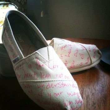your desired words lyrics verse quote on TOMS by ArtfulSoles