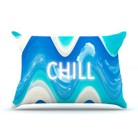 "Vasare Nar ""Chill"" Blue Aqua Pillow Case"