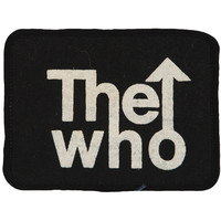 Who Men's 4 x 3 Screen Printed Patch Black