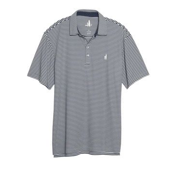 Bunker Striped Prep-Formance Polo in Midnight by Johnnie-O