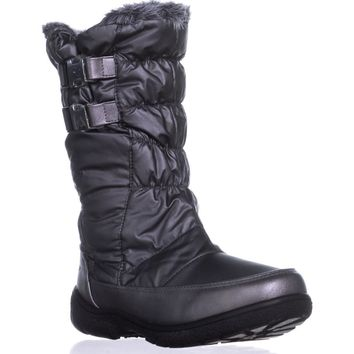 Sporto Makela  Waterproof Winter Boots, Dark Pewter, 10 US