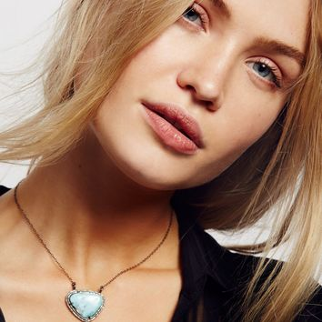 Free People Raw Stone Diamond Necklace