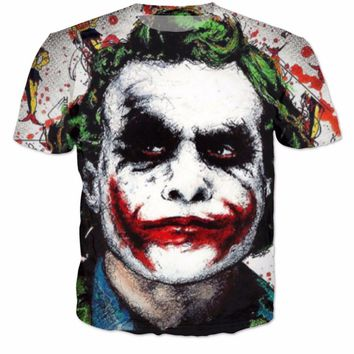 The Joker DC Comics Superhero Print 3D T-Shirt Women/Men