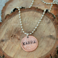 """Karma"" Penny Necklace"