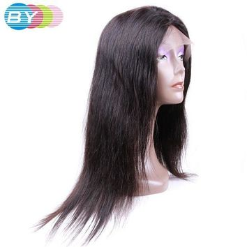 PEAP78W BY Virgin Human Hair Straight Hair Peruvian Lace Front Wigs Natural Color 10-24inch Lace Wigs For Black Women Free Shipping