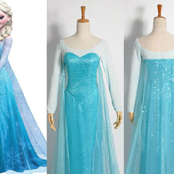 Elsa Costume, Elsa Dress, Elsa Cosplay