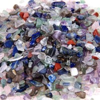 1/2lb Polished Mini Natural Tumbled Mixed Crystal Metaphysical Healing Chakra Stones Semi Precious Stone TS0167