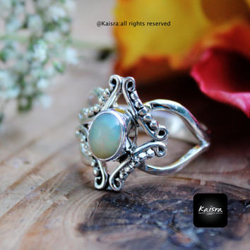 Ethiopian Opal Ring, Opal Ring,Sterling Silver Ring , Gemstone Ring