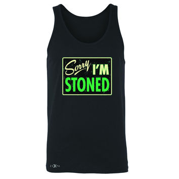 Zexpa Apparel™ I'm Stoned Weed Smoker Men's Jersey Tank Fun Sleeveless