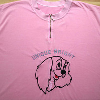 Unique Bright flapping ear doggie T-shirt (rummage sale)