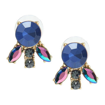 Blue Crystal True Love Earrings