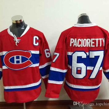 Red Max Pacioretty #67 Hockey Jerseys New Style Canadiens Hockey Wear Hot Sports Team Uniforms Montreal Men's Jerseys with Lace and C Patch