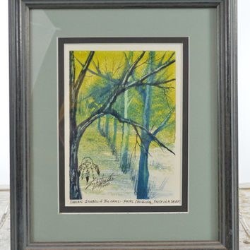 Melody LightFeather Water Color Set Signed Framed Art Work with Provenance