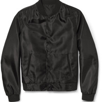 Balenciaga - Silk and Wool-Blend Bomber Jacket | MR PORTER