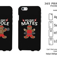 Holiday Gingerbread Swole Mates Matching Couple Phone Cases - 365 Printing Inc
