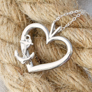 Anchor Heart Pendant