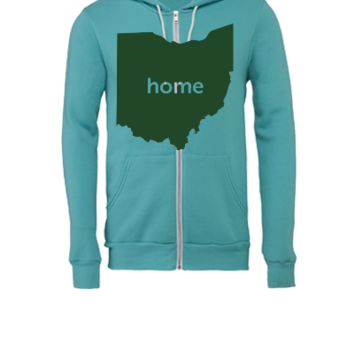 OHIO HOME STATE - Unisex Full-Zip Hooded Sweatshirt