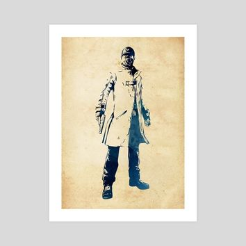 Aiden Pearce, an art print by Dusan Naumovski